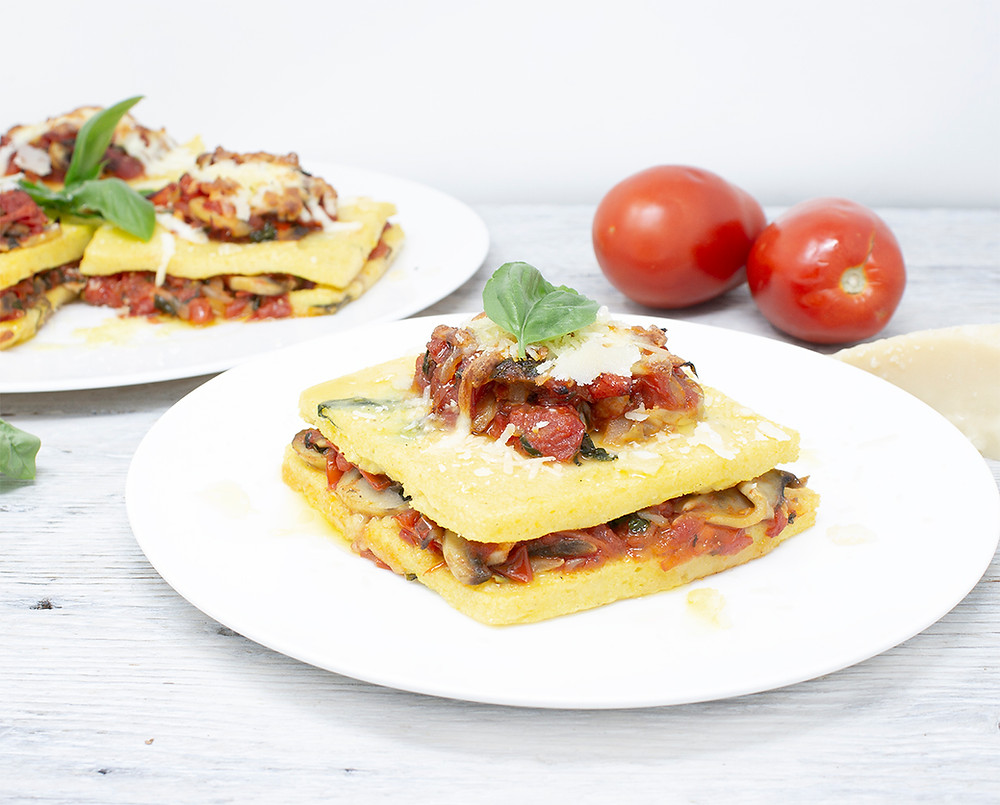Gluten-free Polenta lasagna