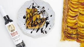 Peach pastry, enhanced with Balsamumm