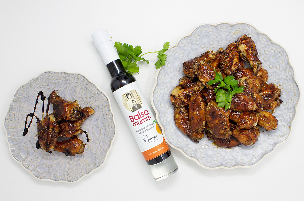 Sweet & Spicy Chicken Wings made with two ingredients from Quebec