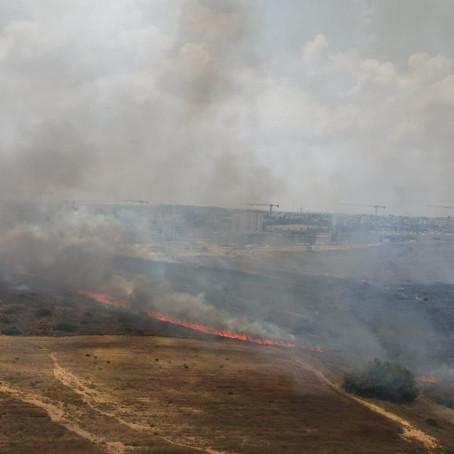 שריפת שדותינו: דרוש מענה צבאי ברור