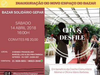 Chá & Bazar Solidário Gepar