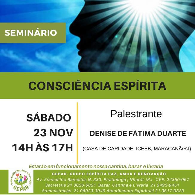 Seminário Consciência Espírita