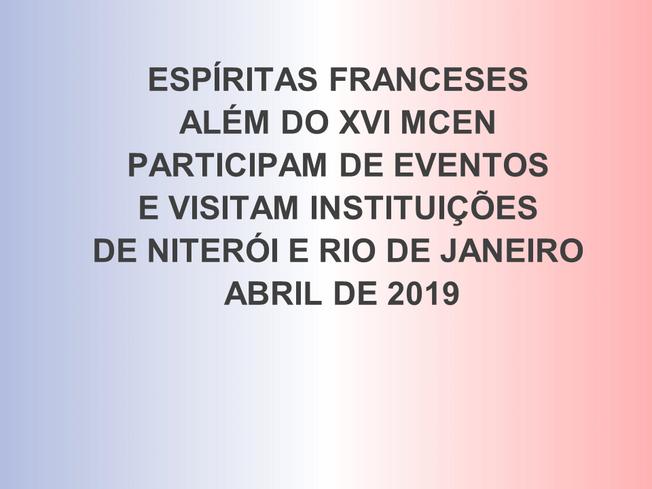 GEPAR - ESPÍRITAS FRANCESES NO RJ