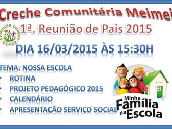 1ª. Reunião de Pais 2015