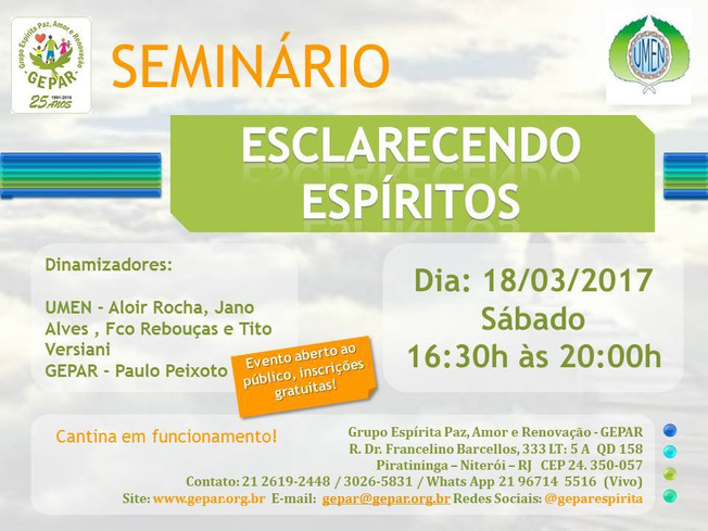 Seminário Esclarecendo Espíritos