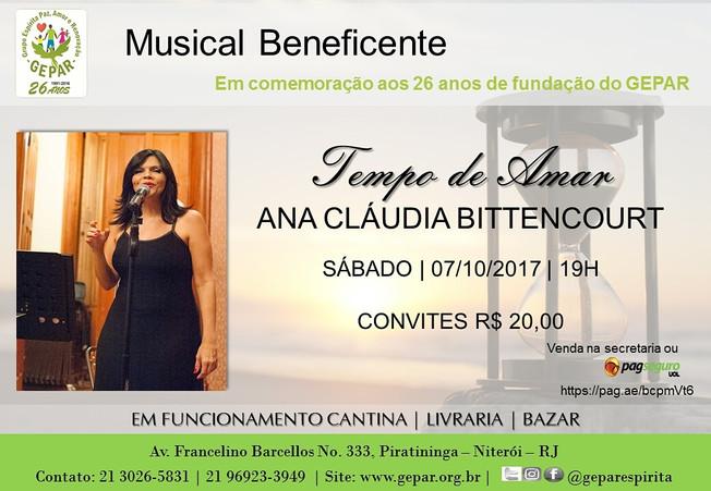 Musical Beneficente Tempo de AmarAna Cláudia Bittencourt