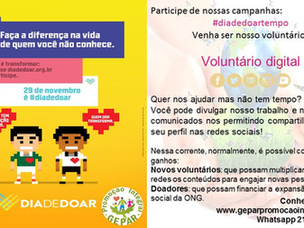 Voluntário Digital #diadedoar