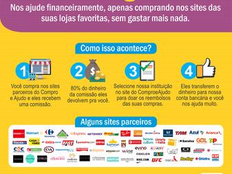 Você conhece o site Compro e Ajudo? Um pequeno gesto, uma grande ajuda!