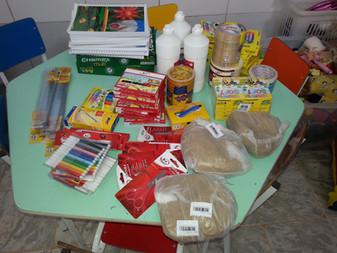Agradecimento doação material escolar!