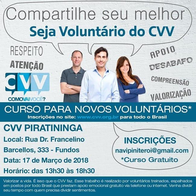 Divulgando - Curso para novos voluntários CVV.