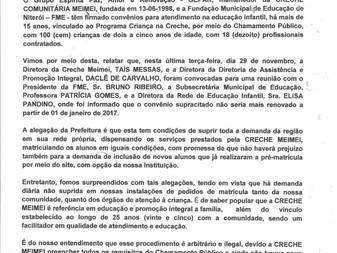 URGENTE! COMUNICADO OFICIAL DIRETORIA GEPAR - Creche C. Meimei