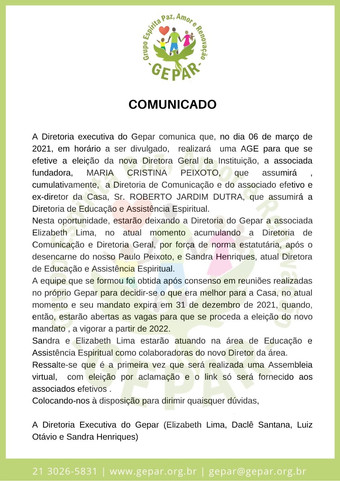 Comunicado N.02/2021