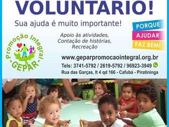 Venha ser um voluntário!