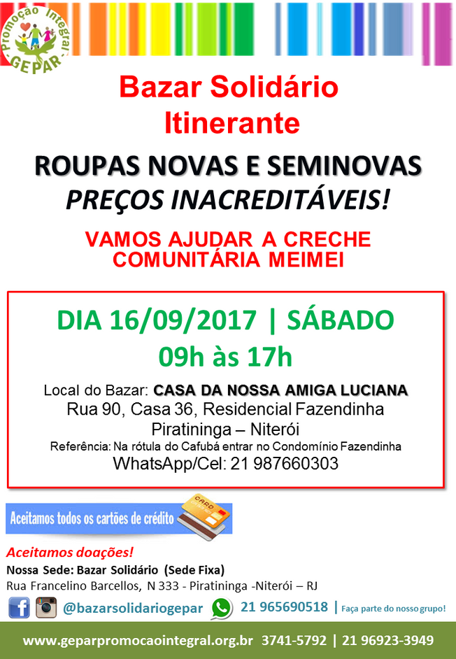 Bazar Solidário Itinerante