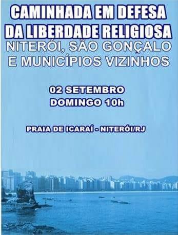 Plenária Geral - 21/08, 19h  Caminhada da Liberdade Religiosa