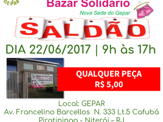 Saldão - Bazar Solidário Gepar