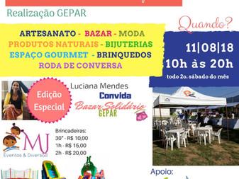 Feira Solidária - Dia 11/08 das 10h às 20h