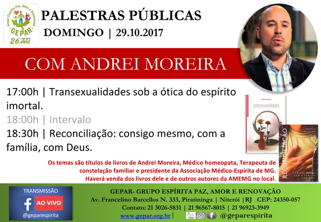 Palestras Públicas com Andrei Moreira