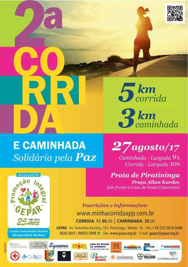 Corrida e Caminhada Solidária pela Paz