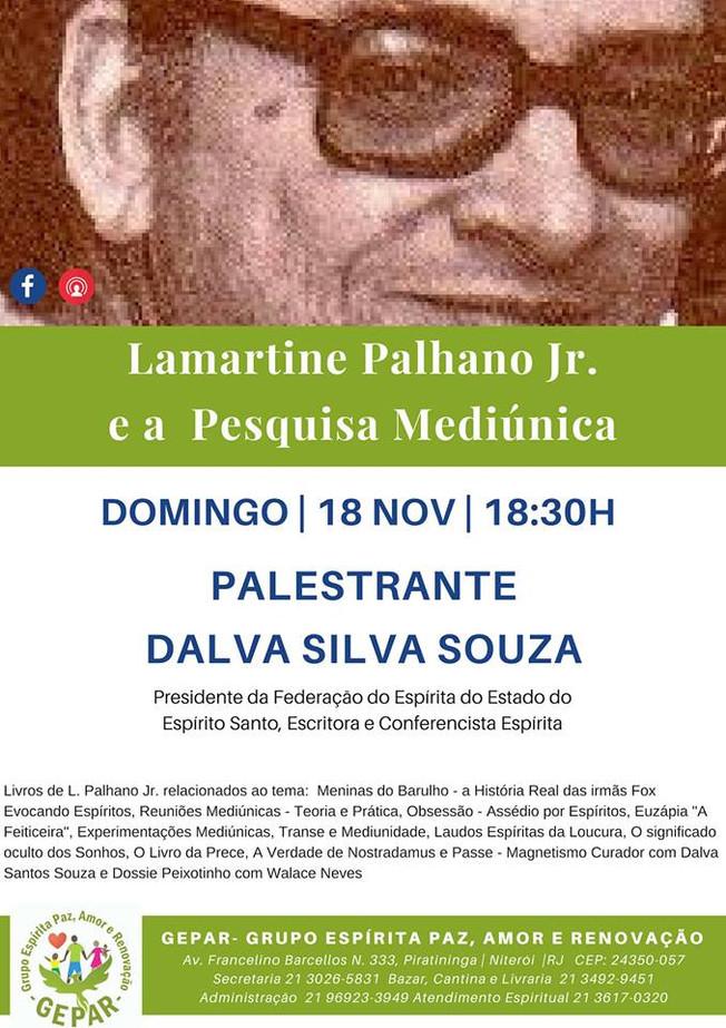 Palestra Pública: LAMARTINE PALHANO Jr. E A PESQUISA MEDIÚNICA