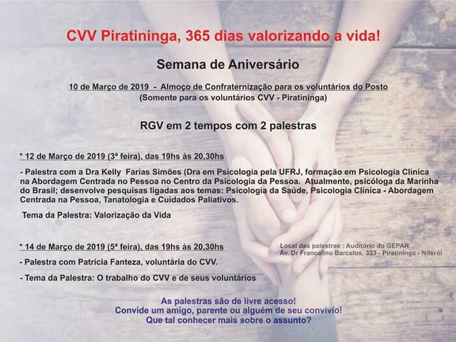 CVV Piratininga - Convida