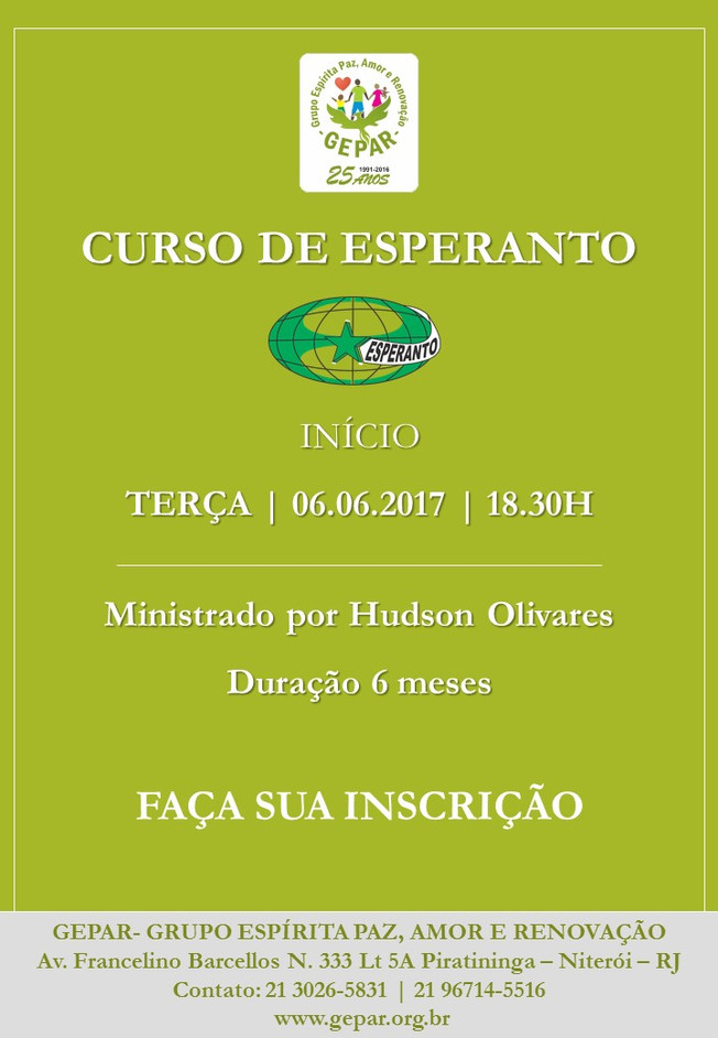 GEPAR- CURSO DE ESPERANTO