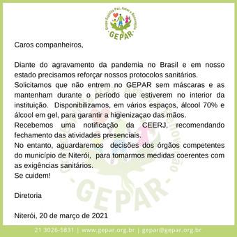 Comunicado N.03/2021