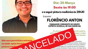 Cancelada Palestra: Exercício mediúnico na contemporaniedade