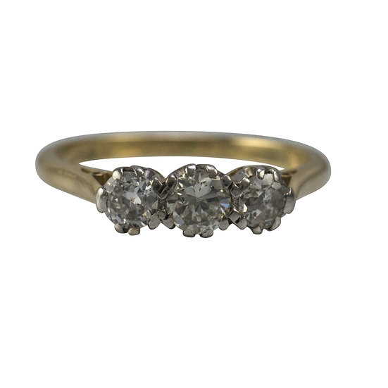 Vintage 18ct Three Stone Diamond Ring