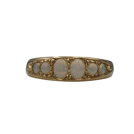Modern 9ct Opal Set Ring - SOLD