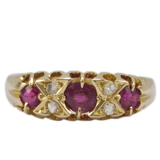 Antique Ruby & Diamond Ring - SOLD