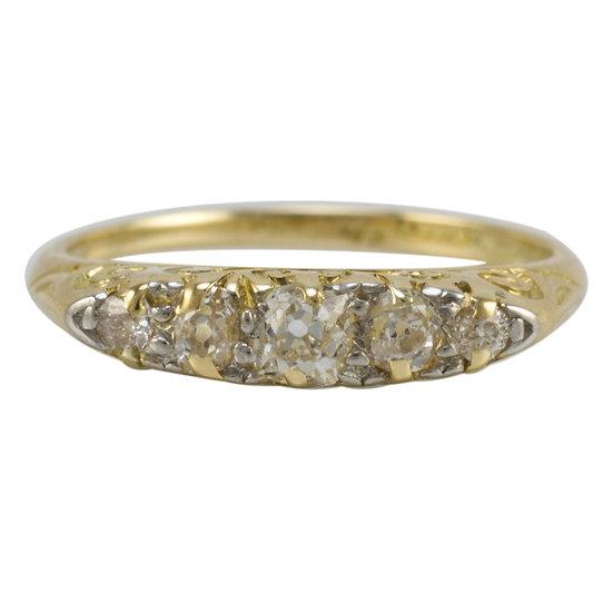 18ct Victorian Five Stone Diamond Ring - SOLD