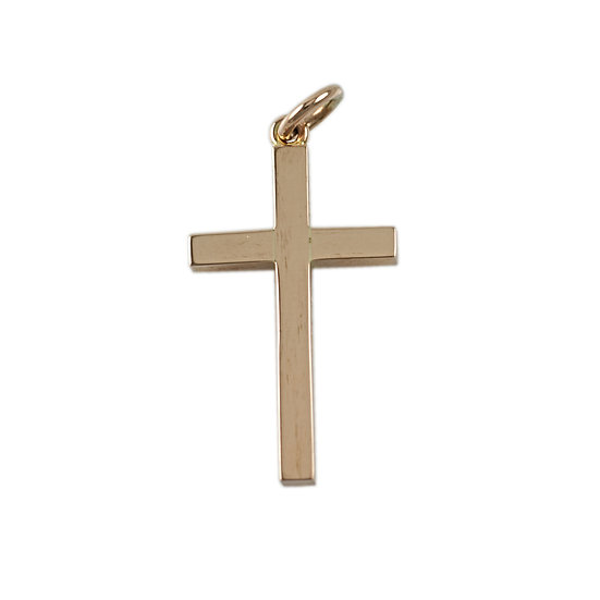 9ct Rose Gold Solid Cross - SOLD