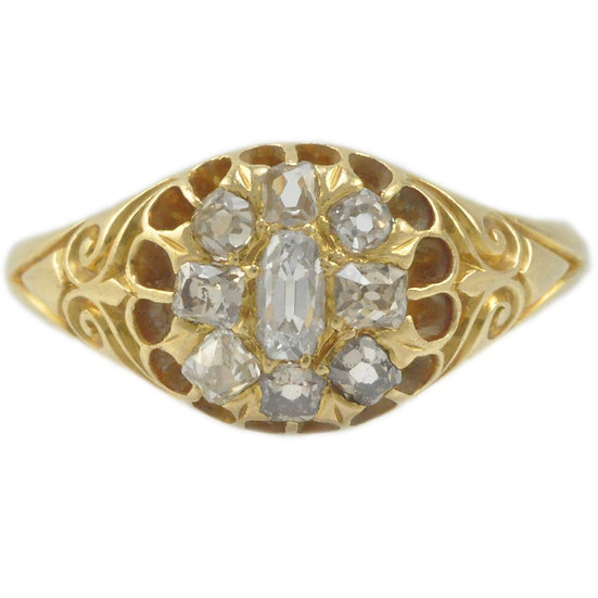 Victorian 18ct cluster ring