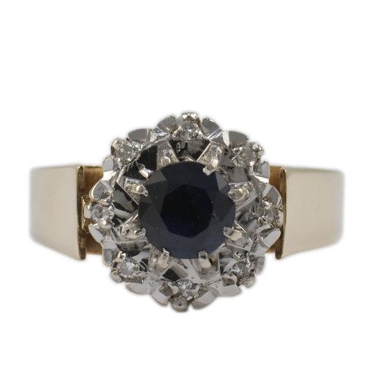 Sapphire & Diamond Retro - SOLD