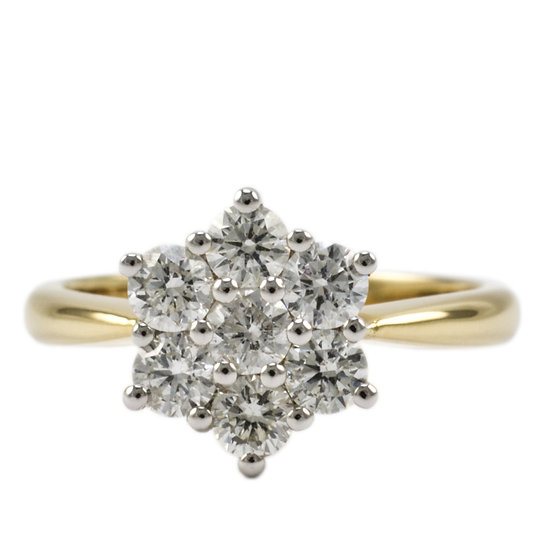 Diamond Cluster Ring - SOLD