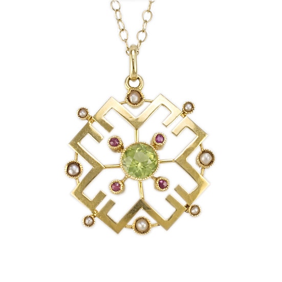 15ct Edwardian pendant - SOLD