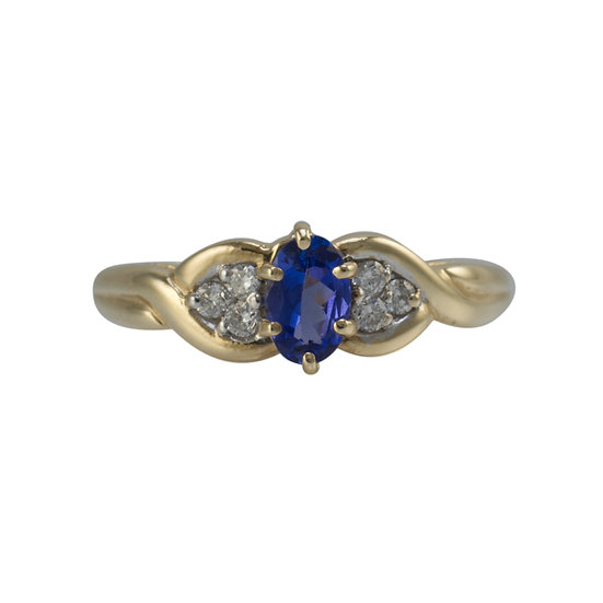 9ct Tanzanite & Diamond Ring - SOLD