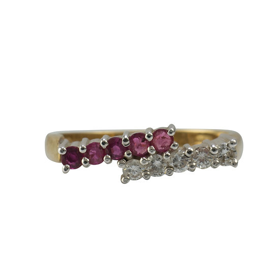 9ct Ruby and Diamond Vintage Ring - SOLD