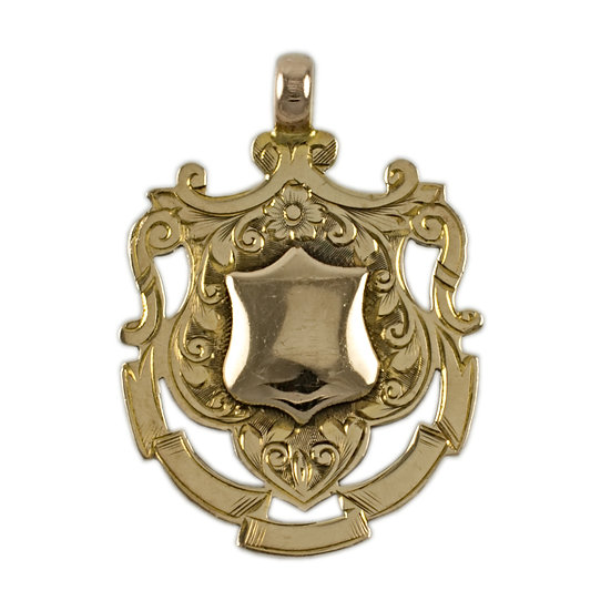 9ct Shield Fob - SOLD