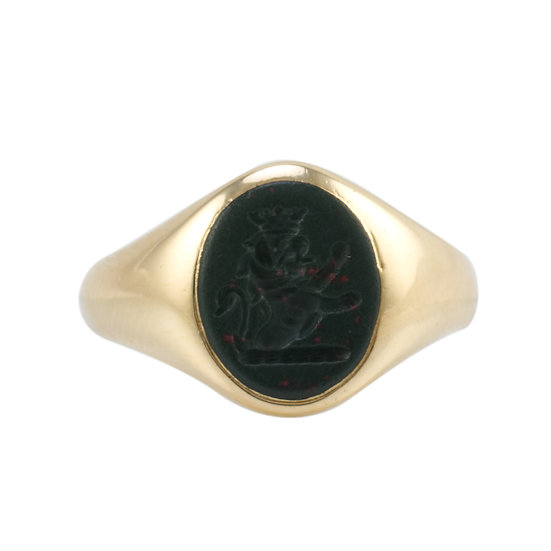 18ct Bloodstone Signet Ring - Reserved