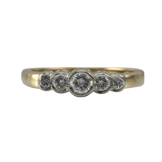 18ct Five Stone Diamond Ring