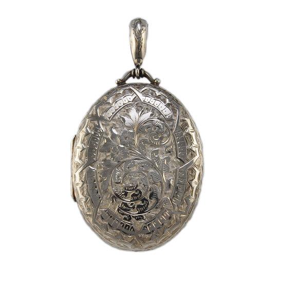 Victorian Silver Locket - SOLD