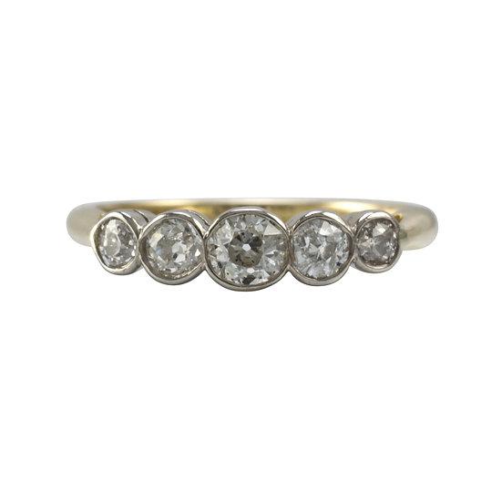 18ct Gold 5 Stone Diamond Ring