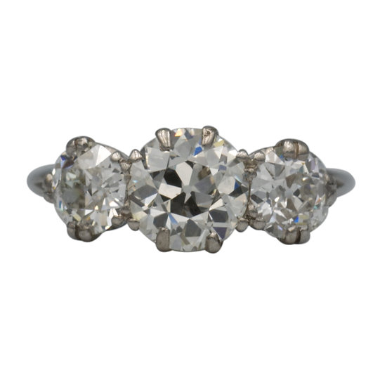 Platinum & Diamond Three Stone Ring - 2.75ct.