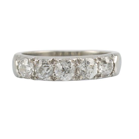 Platinum Five Stone Diamond Ring - SOLD