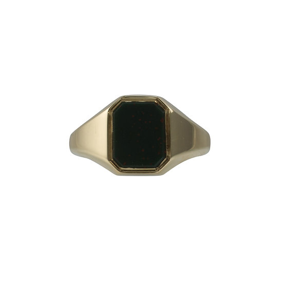 Vintage Late 1980's Bloodstone Signet Ring - RESERVED