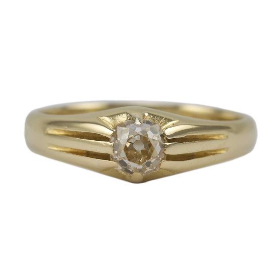 18ct Vintage Diamond Set Vintage Signet Ring