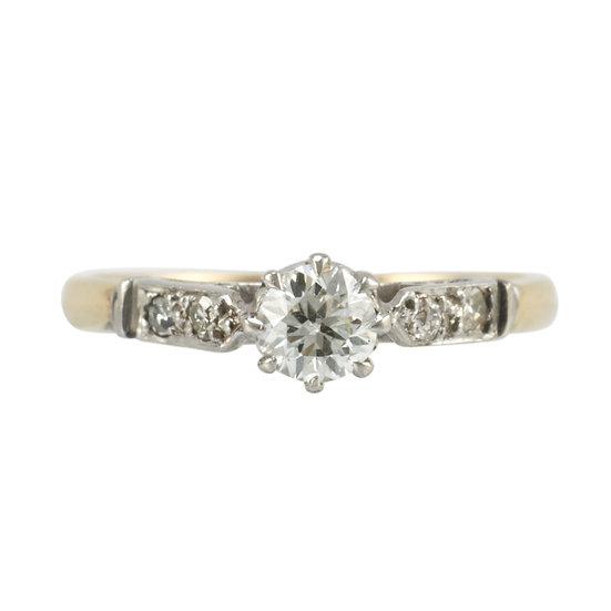 18ct & PLAT Vintage Engagement Ring - SOLD