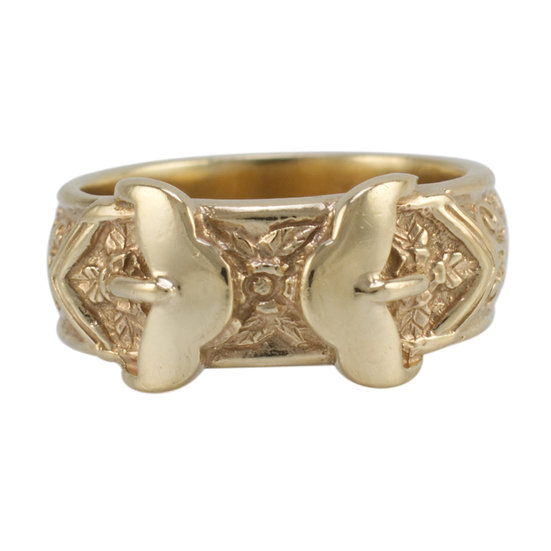 9ct Double Buckle Ring